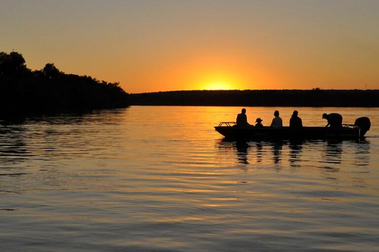 Sunset Zambezi River Livingstone Zambia