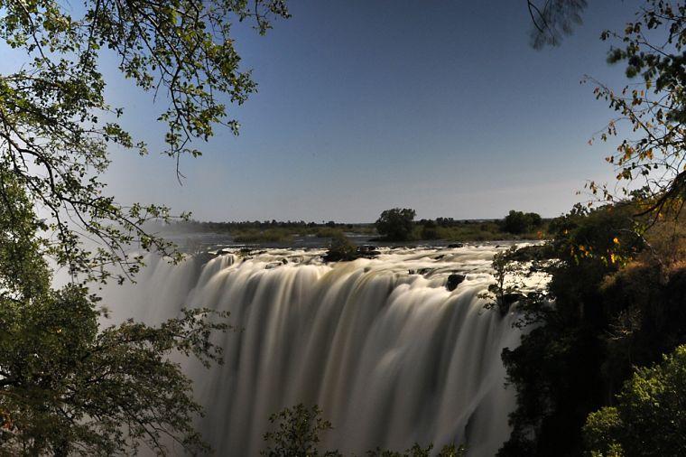 Victoria watervallen Livingstone Zambia