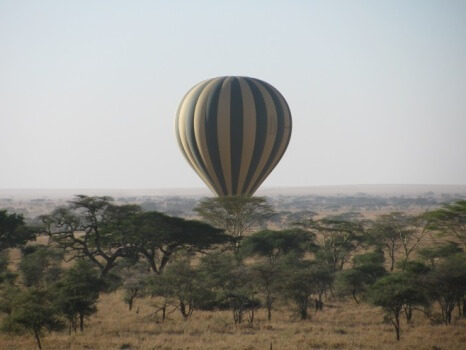 Ballon safari boven Serengeti National Park Tanzania