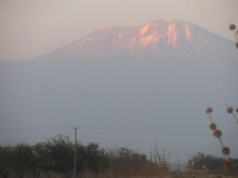 Mount Kilimanjaro in de verte, Tanzania