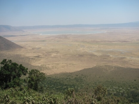 Uitzicht op de Ngorongoro Crater Tanzania