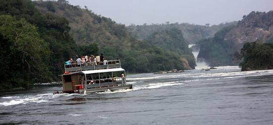 Boottocht Victoria Nijl bij Murchison Falls Uganda