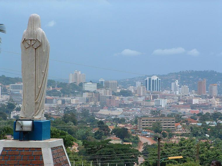 Kampala hoofdstad van Uganda
