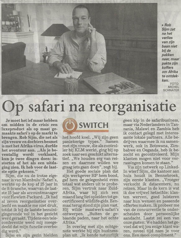 Interview De Financiële Telegraaf 7 dec 2013