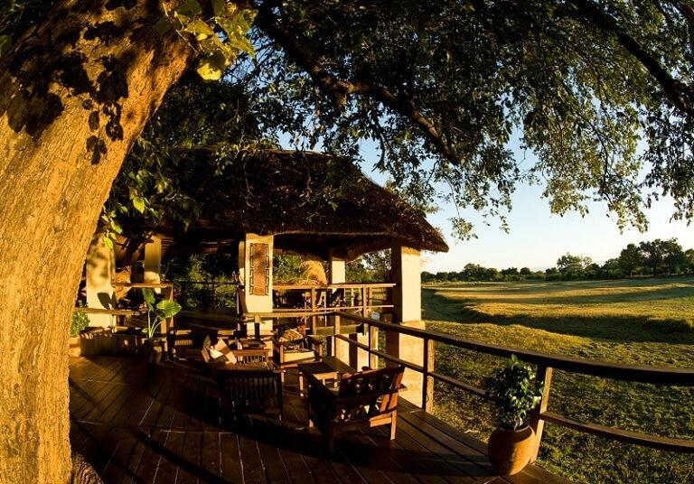 Uitzicht vanuit Kapani Lodge South Luangwa National Park Zambia