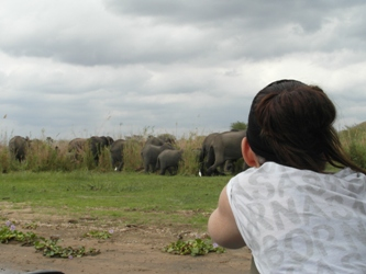 Karin Rus op safari in Liwonde National Park Malawi