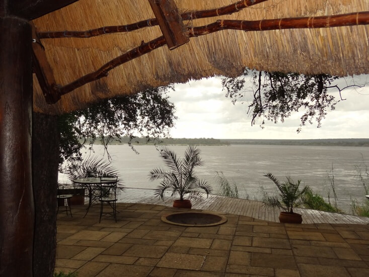 Terras bij Tongabezi Livingstone Zambia