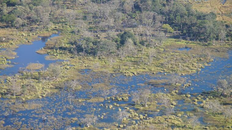 Luchtopname Okavango Delta Botswana