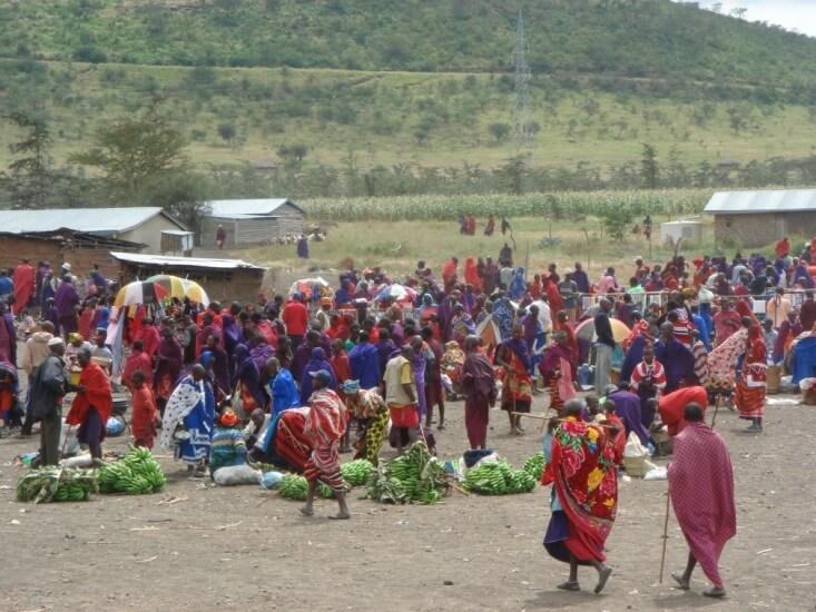 Maasai markt in Tanzania