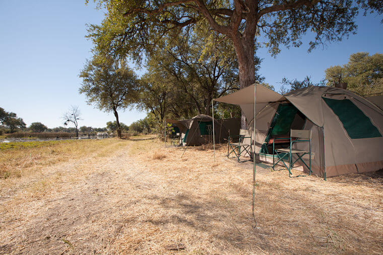 Mobiele kampeer safarireis Botswana