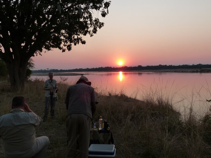 Sundowner in South Luangwa National Park Zambia
