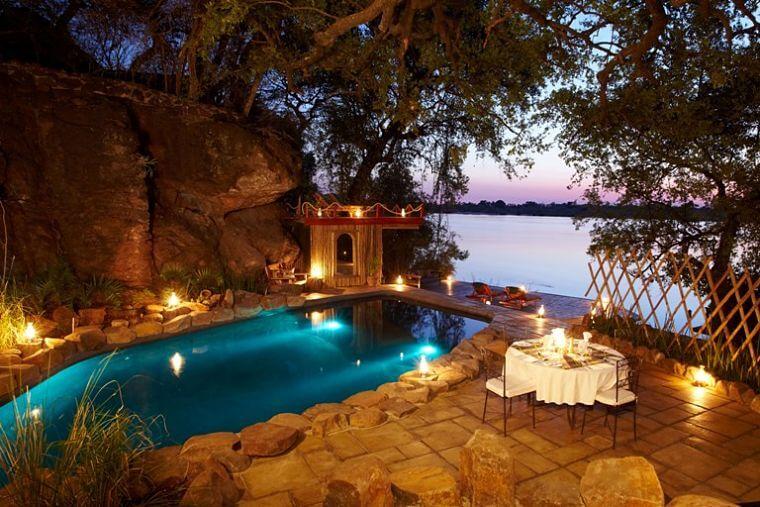 Tongabezi zwembad Livingstone Zambia