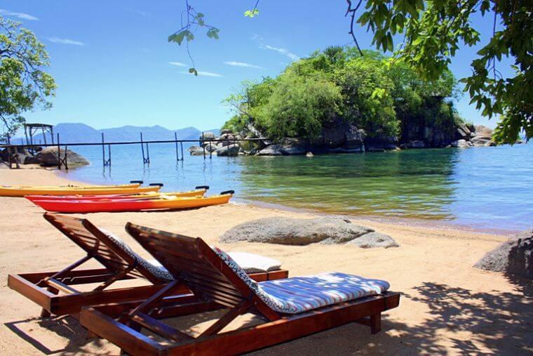Mumbo Island strandbedden Lake Malawi