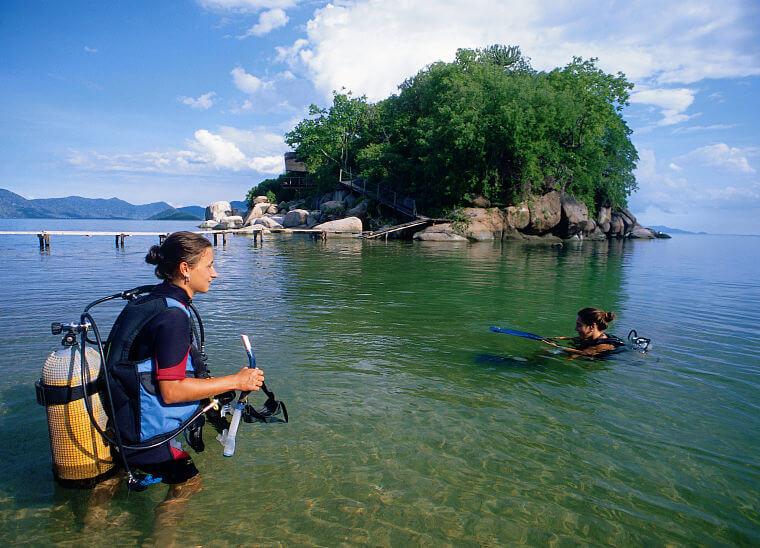 Scuba duiken in bij Mumbo Island Lake Malawi