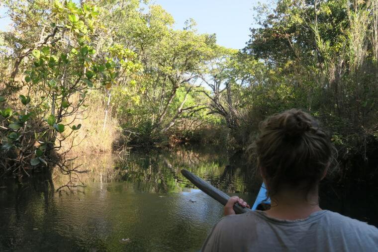 Kanotocht op de Mutinondo rivier in Mutinondo Wilderness Area Zambia