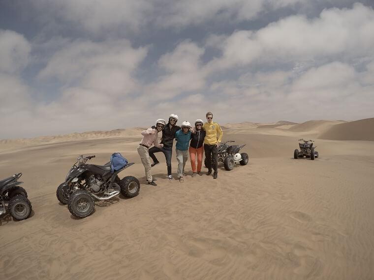 Swakopmund, Quad rijden in de Namib Desert bij Swakopmund Namibië