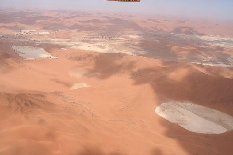 Sossusvlei tijdens scenic flight vanuit Swakopmund Namibië