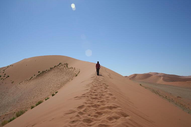 Hoge zandduinen van Sossusvlei Namibië