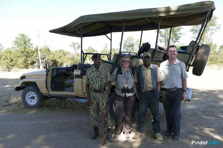 Game drive in South Luangwa National Park Zambia