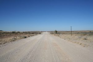 Gravel roads in Namibië prima begaanbaar