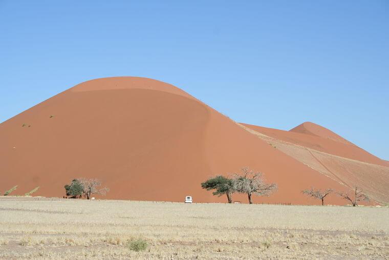 Indrukwekkende hoge zandduinen bij Sossusvlei in Namibië