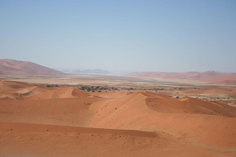 Rode zandduinen bij Sossusvlei in Namibië