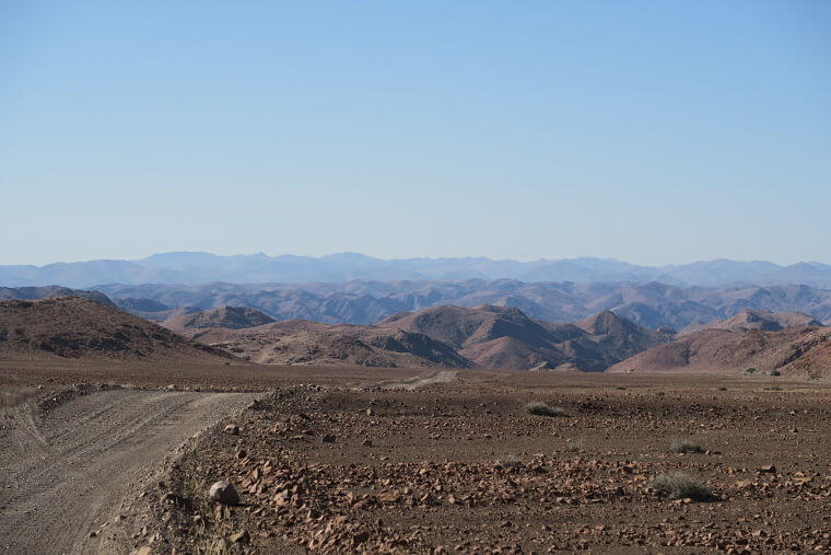 Indrukwekkende landschappen rond Puros Namibië