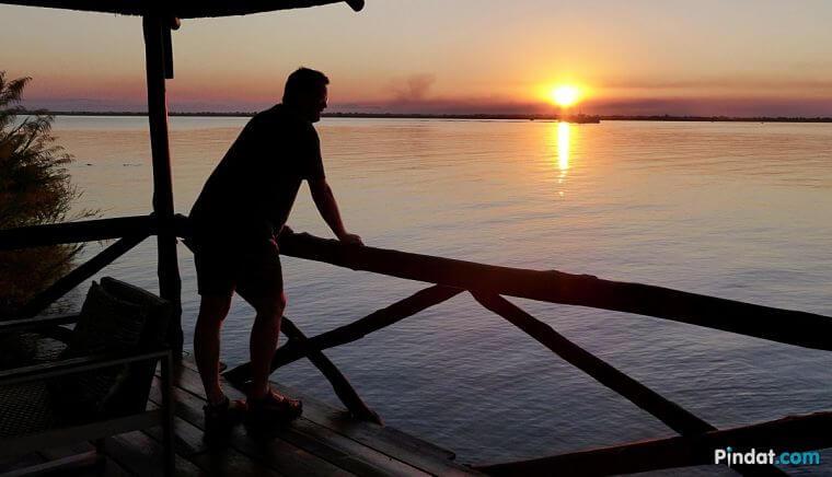 Zonsondergang boven Lake Malawi
