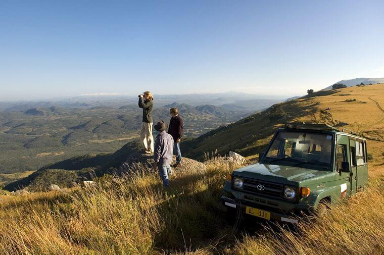 Game drive in Nyika National Park Malawi