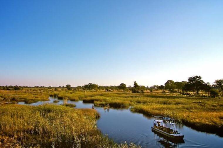 Kwando rivier in Mamili National Park Namibië