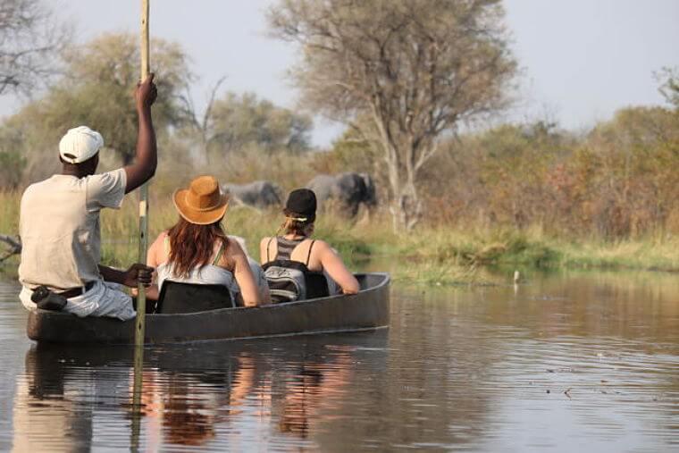 Mokoro tocht Okavango Delta Botswana