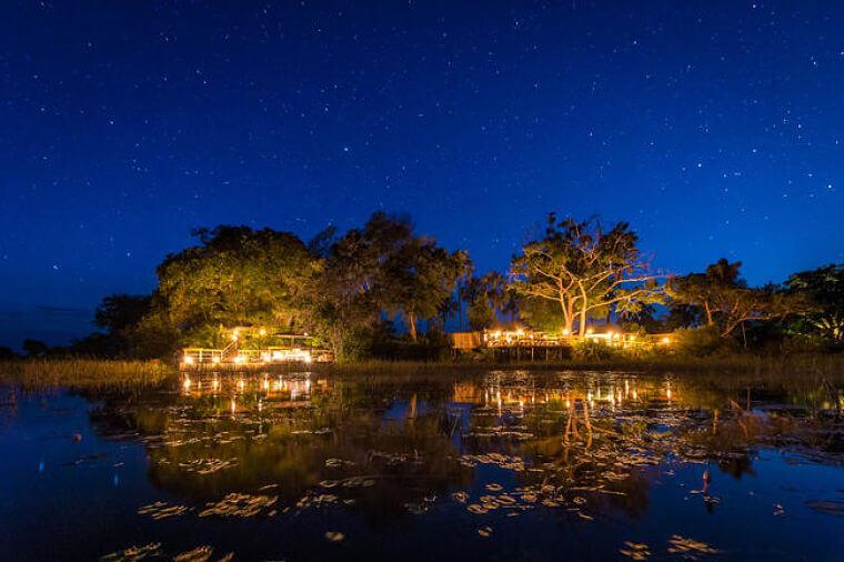 Okavango Delta Pelo Camp onder de sterrenhemel