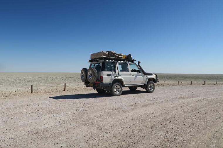 Etosha Salt Pan Namibië