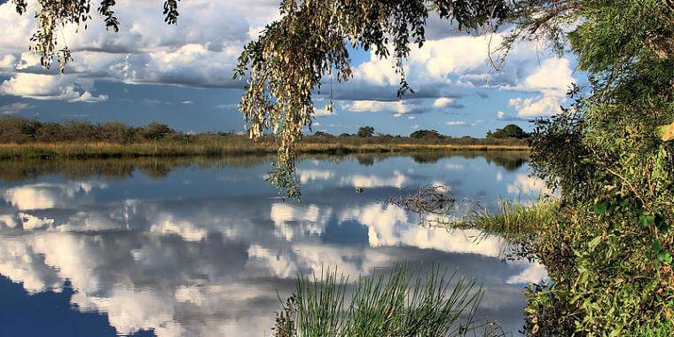 Vergezicht Mudumu National Park Namibië