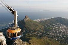 Kabelbaan naar Tafelberg bij Kaapstad in Zuid Afrika