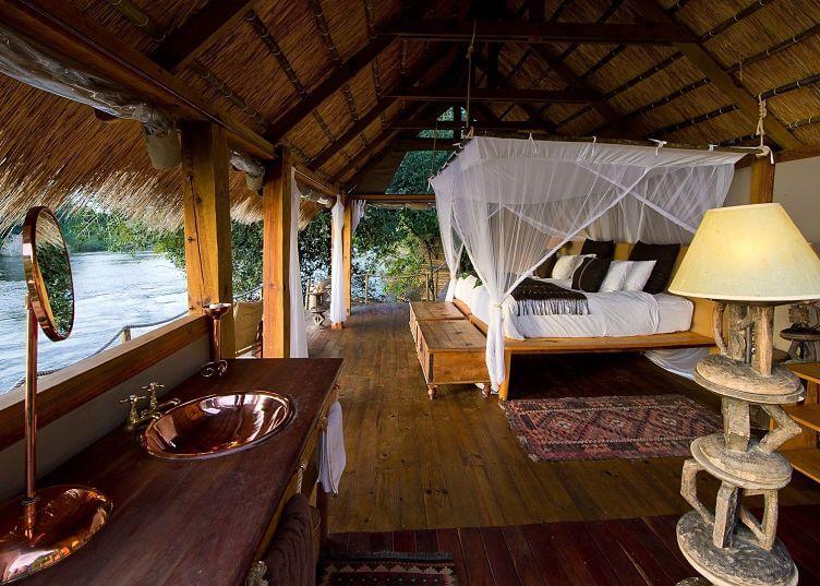 Sindabezi Island Lodge bij Victoria watervallen Zambia