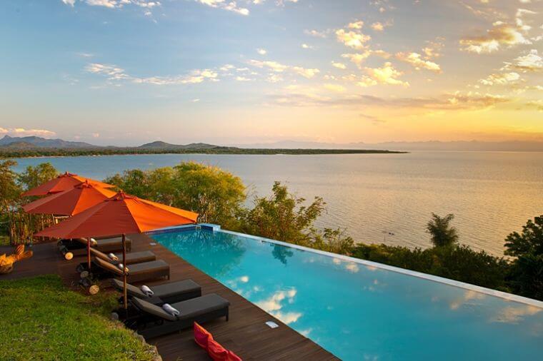 Uitzicht over Lake Malawi