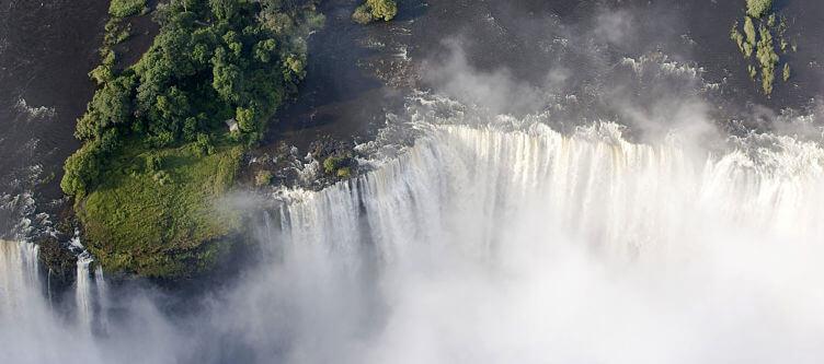 Victoria watervallen uit de lucht