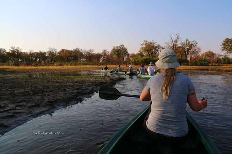 Kanotocht Selinda gebied Okavango Delta Botswana