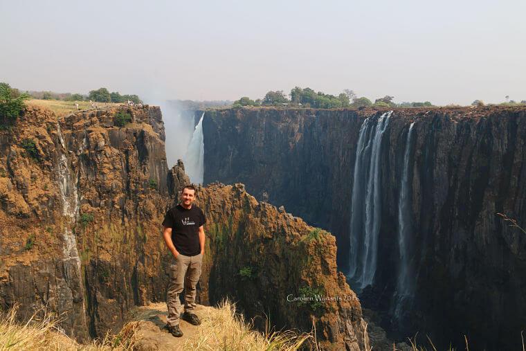 Roeland bij Victoria watervallen Zambia