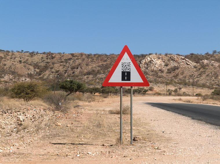 Goed begaanbare gravel roads in Namibië