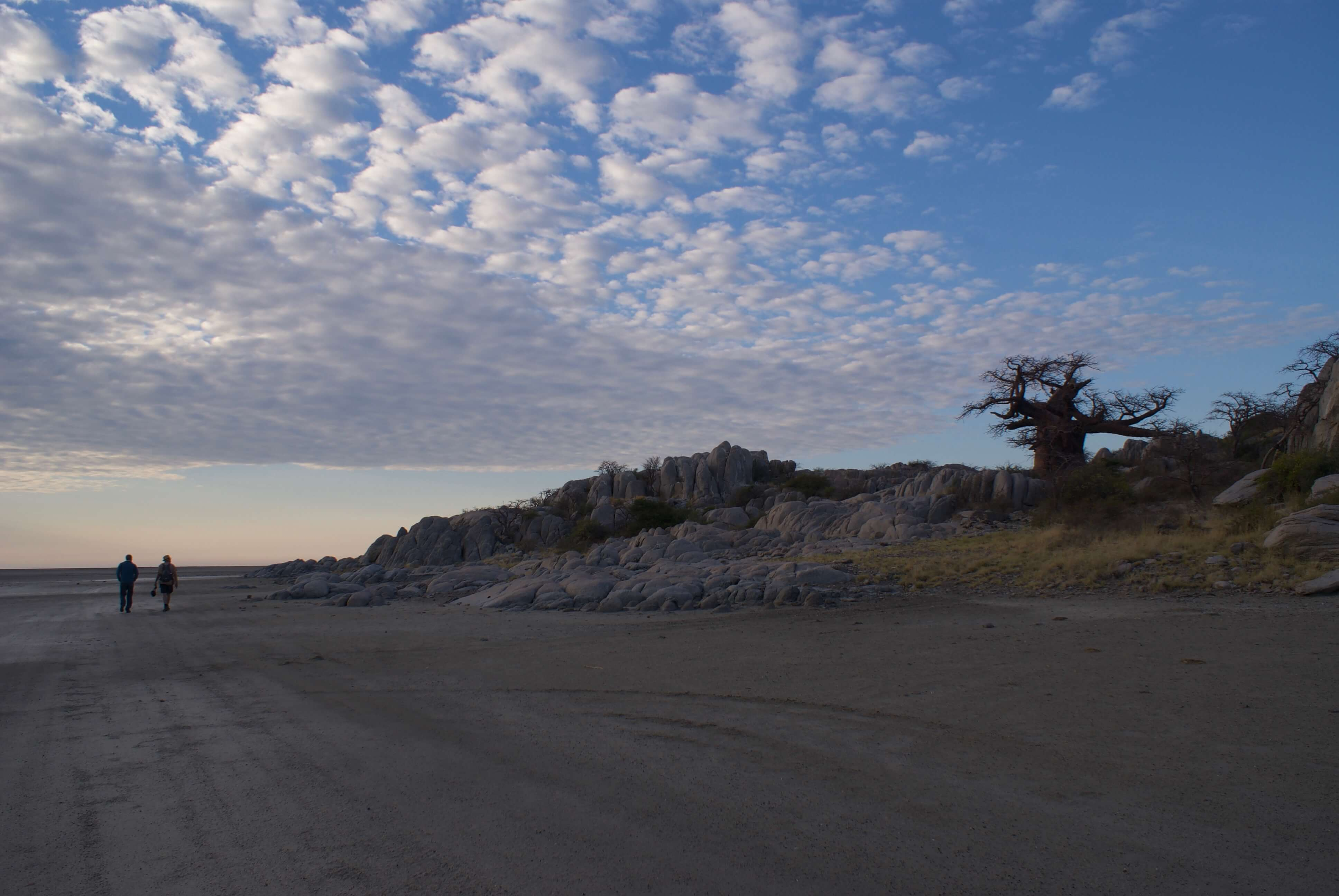 Makgadikgadi Salt Pans Kubu Island Botswana