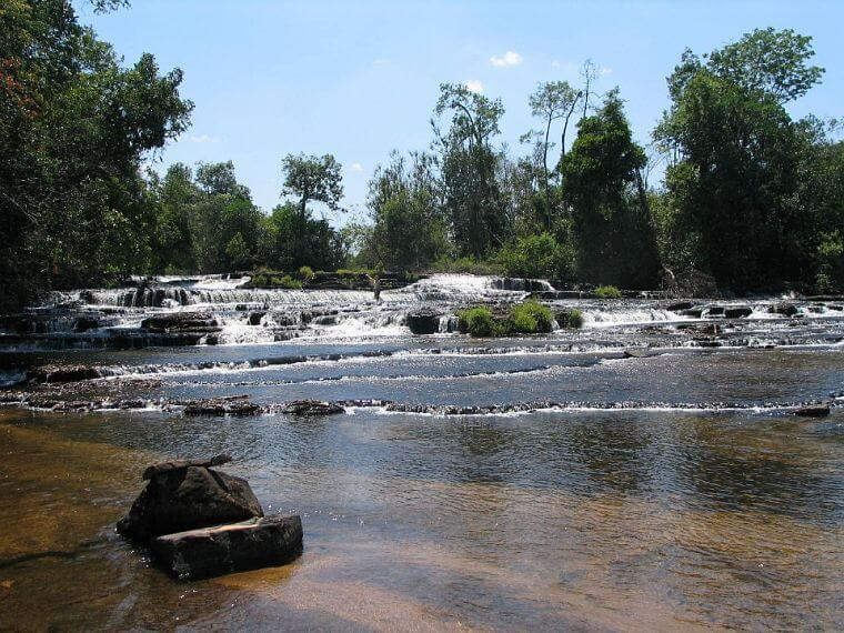 Chimpempe Falls in northern province Zambia