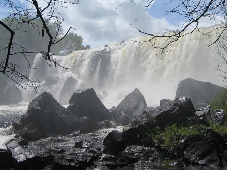Chishimba Falls in december in northern province Zambia