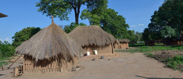Dorpje in omgeving Chingola Zambia