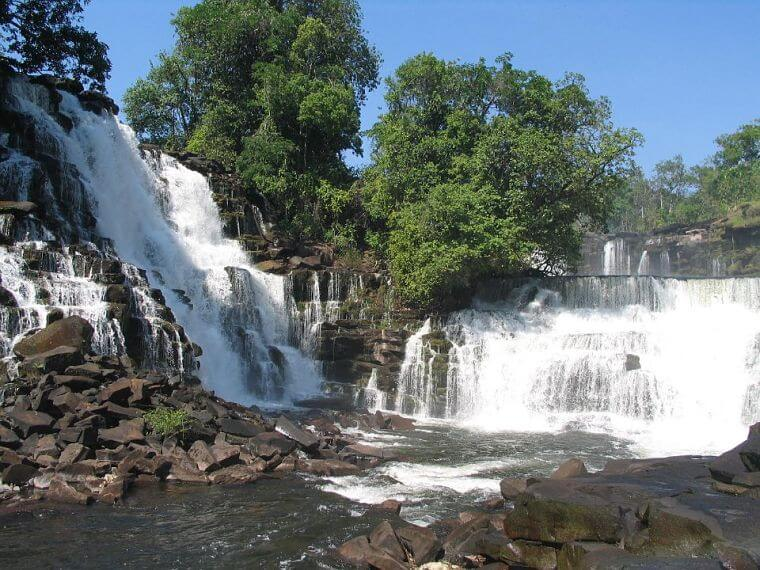 Kabwelume Falls in northern province in Zambia