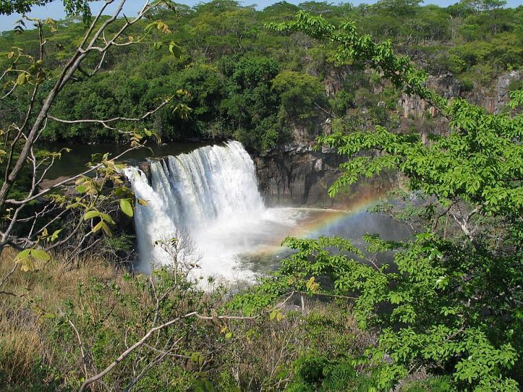 Kundabwika Falls in de northern province in Zambia