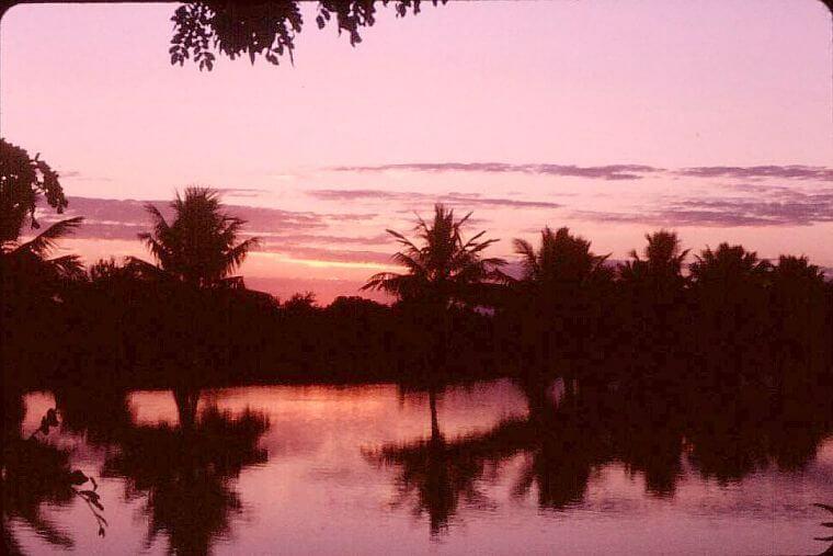 Lengwe National Park zonsondergang in Malawi