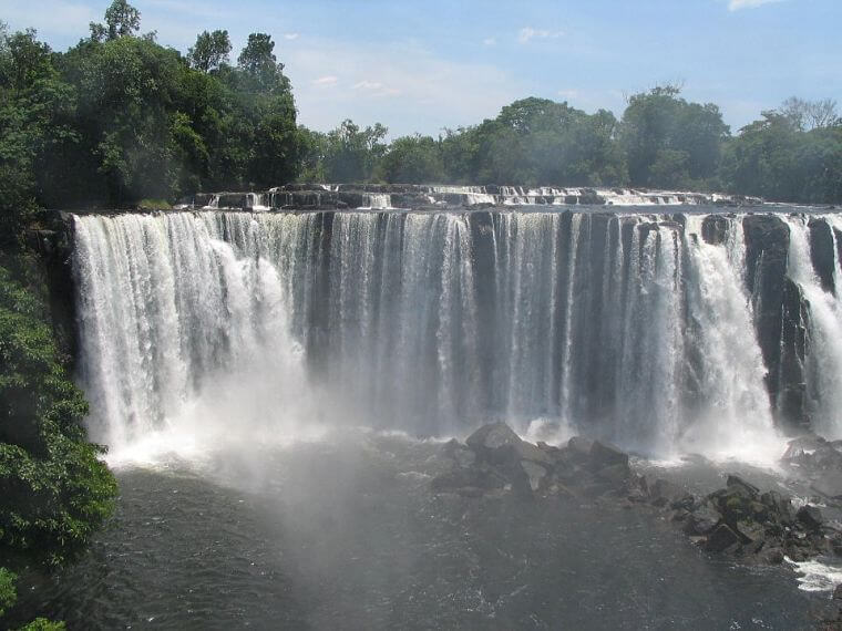 Lumangwe Falls in northern province in Zambia