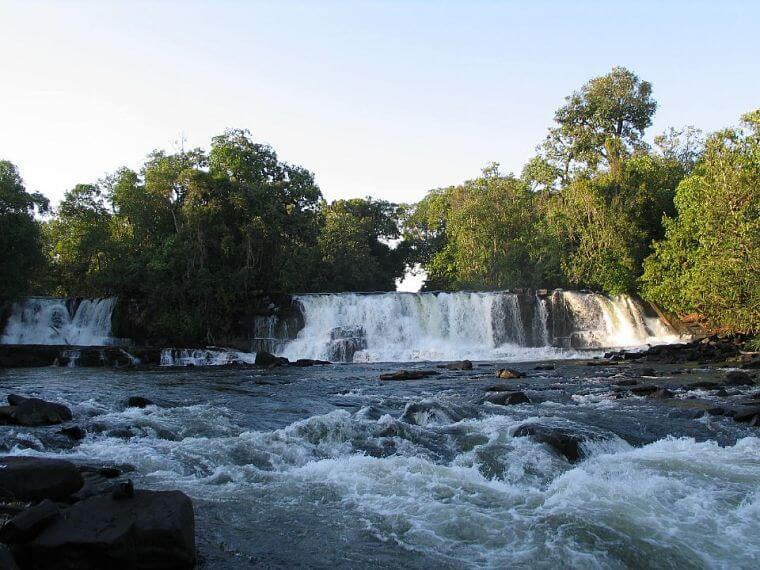 Mumbuluma Falls in northern province in Zambia